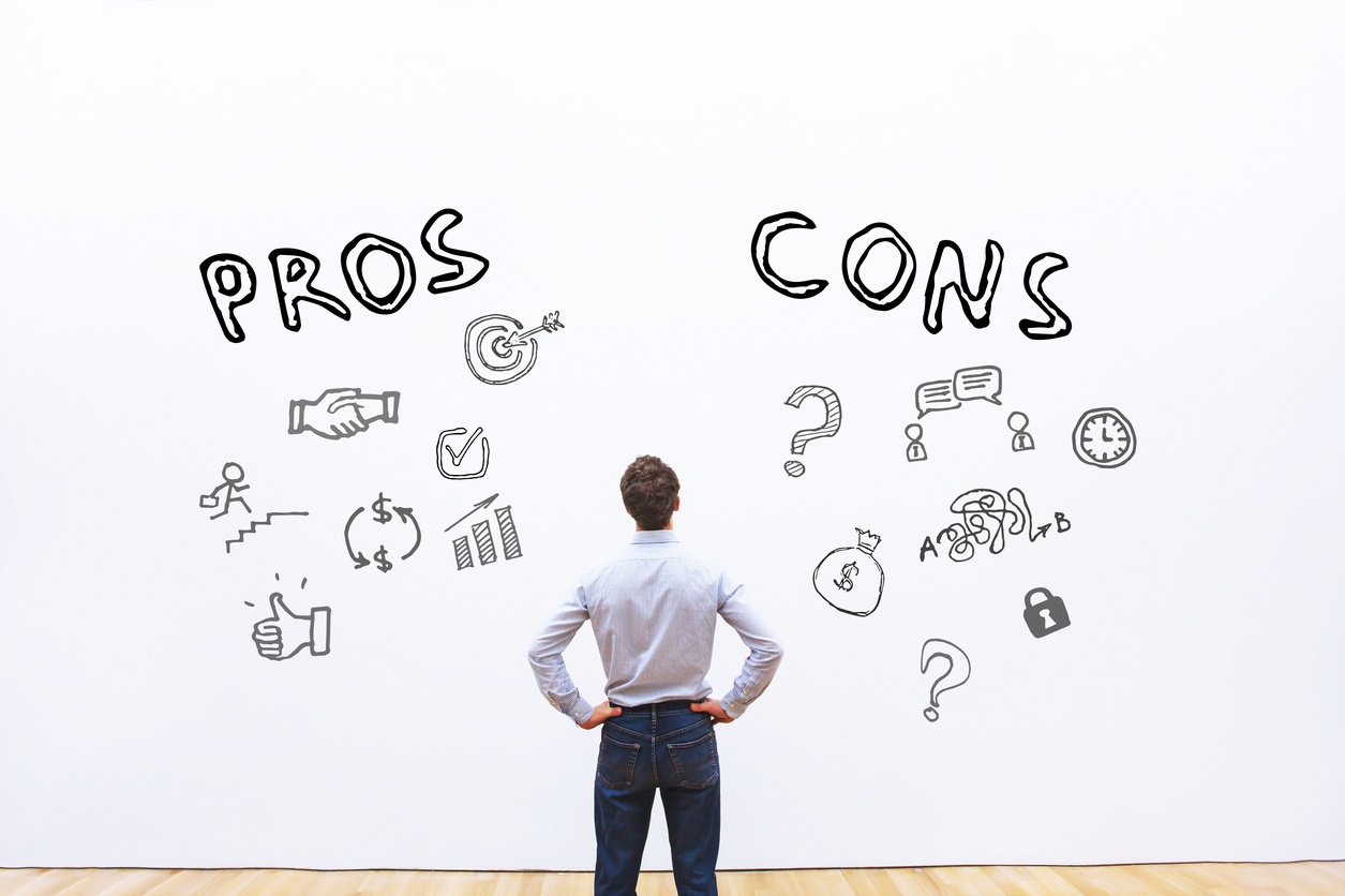 Pros and cons of managing IP portfolio internally