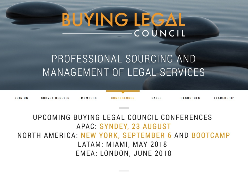 2017 Conference Legal Market Intelligence